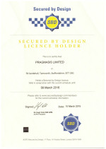 Police Secured-by-Design Certificate