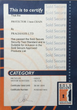 Sold Secure Certificate - Protector 11mm Chain