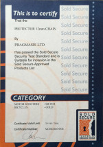 Sold Secure Certificate - Protector 13mm Chain