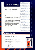 Sold Secure Certificate - Squire SS65CS Lock