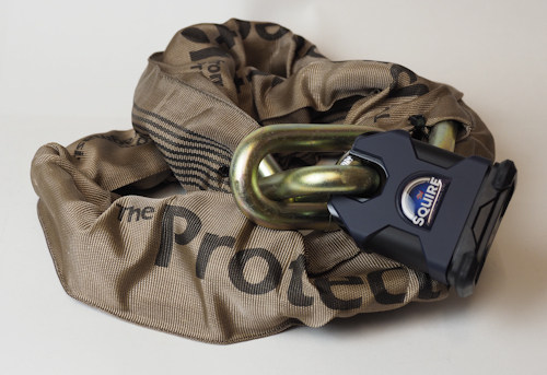 Package Deal: Protector 16mm Chain, Squire SS65CS Lock