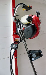 brush cutter and cable lock