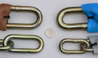 Protector chains with 50p piece